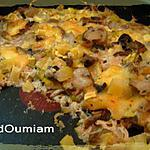 recette Gratin de courgettes, champignons et Raclette