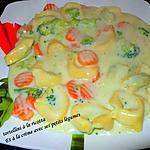 Tortellini à la ricotta Et à la crème avec ses petits légumes