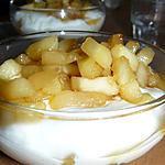 recette fromage balnc aux pommes et caramel