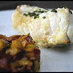 recette ** Filets de Lotte rôtie au four et fondue d'émincé de poireaux au chorizo   **