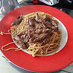 recette Bœuf mariné et nouilles chinoises