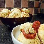 recette Cookies chorizo, noix et parmesan