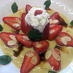 recette Fraises sur un lit de crème Chantilly.