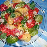 recette Salade de tomates en couleur