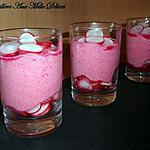verrine betterave : recette Mousse de betterave rouge & radis rose