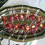 Cuillères de magret aux poires