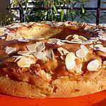 recette Couronne pommes amandes, parfumée à la fleur d'oranger