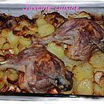 recette Cuisses de canard sur lit de pomme de terre