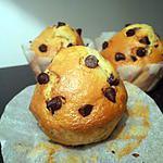 recette muffin aux pepites de chocolat