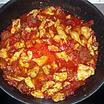 recette Dinde aux poivrons et chorizo