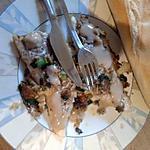 recette filet de cabillaud au crumbel de chapelure et sauce au foie gras