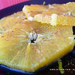 recette carpaccio d'oranges à la fleur d'oranger, pointe de cannelle (diététique)