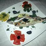 Truites saumonnées farcies au four.