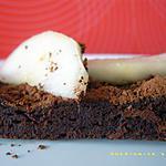 gâteau allégé au cacao et aux poires