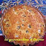 recette Tarte banane et noix de coco sur fond de tarte spéculos