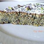 recette Gâteau à la pistache et au pralin, sans gluten