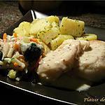 recette Suprême de cabillaud sauce moutarde au pain d'épices
