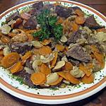 Boeuf Bourguigon aux carottes et champignons, sans alcool,cocotte minutes.