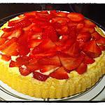 recette Tarte aux fraises sur fond de génoise