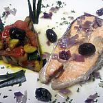 recette Darne de saumon rose aux légumes.