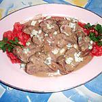 recette Rognons de veau au roquefort