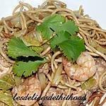 recette nouilles chinoises au poulet et crevettes