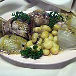 recette Cuisse de poulet aux pommes de terre et fenouils.