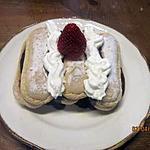 recette Biscuits moelleux au chocolat, fraises, Chantilly.