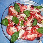 Salade de tomates au crabe