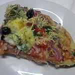 recette Pizza aux oignons rouges,poivrons et aux oeufs.