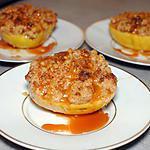 recette Pomme avec son crumble au spéculoos et caramel au beurre salé