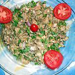 Salade de pied de veau et lentilles