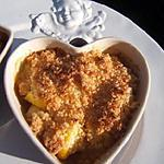 recette Crumble d'ananas , mangue et banane