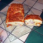 recette cake chorizo,jambon de parme et olive