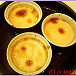 recette Petites crèmes au lait de coco et morceaux de poires