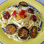 recette tagliatelles au chorizo-courgette ou comment faire manger un peu  de légumes à son mari