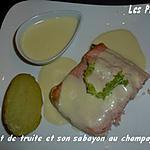 recette Filet de truite et son sabayon au champagne