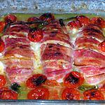 recette Escalopes de poulet au fromage et lard fumé