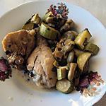 recette Cuisses de poulet légumes en vert