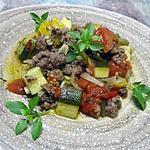 recette Boeuf haché aux légumes ratatouille