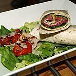 recette Wraps Carpaccio de Boeuf au Pesto sur Lit de Roquette