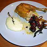 recette Poulet fermier au thym, romarin et tomates cerises confites