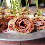 Wraps jambon et pesto