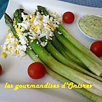 recette Asperges en sauce aux fines herbes