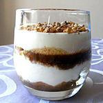 """recette Tiramisù aux noisettes et au caramel """"pointe de sel"""""""