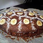 recette gateau banane nutella coco