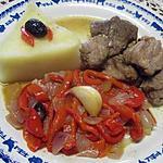 recette Sauté de veau aux poivrons rouges.