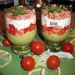Verrines Saumon Crevette Tomate Avocat