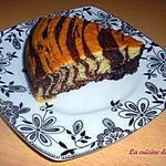 recette Zebra Cake - Gâteau zébré