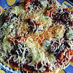 recette pizza au bleu d'auvergne et chorizo